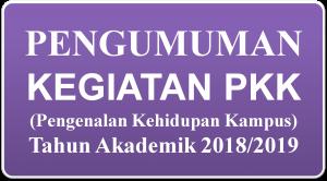 Pengumuman PKK 2018