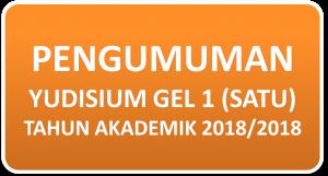 Pelaksanaan Yudisium Gelombang 1 Tahun Akademik 2017/2018