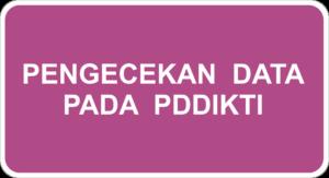 Pengecekan Data PDDIKTI