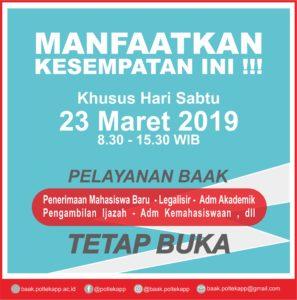 Pelayanan BAAK tanggal 23 Maret 2019