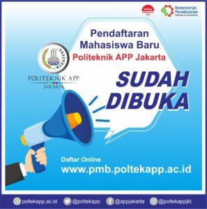 KESEMPATAN EMAS !!!  Kuliah di Politeknik APP Jakarta (Kementerian Perindustrian R.I)