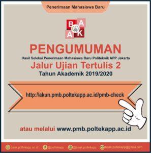 Pengumuman Jalur Tertulis 2 dan Ujian Online 4,5,6 PMB 2019