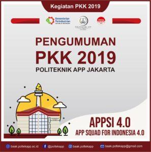 Pengumuman PKK 2019 (APPSI 4.0)